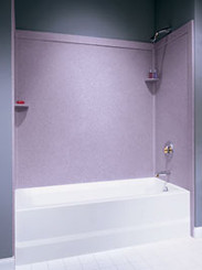 Swanstone SSIT-60-3 Bathtub 3-Panel Wall Kit with Integral Trim - Aggregate Color