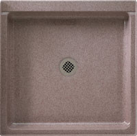 """Swanstone SS-4242 Single Threshold Shower Floor 42"""" x 42"""" - Solid Color"""