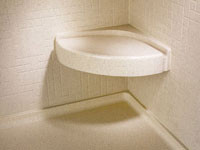 Swanstone CS-1616 Corner Shower Seat - Solid Color