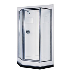Swanstone SD-38NEO-C Angle Shower Door Kit - Clear Glass