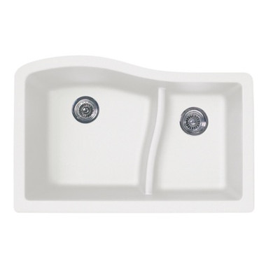 Swanstone QULS-3322 Granite Undermount Large/Small Bowl ...