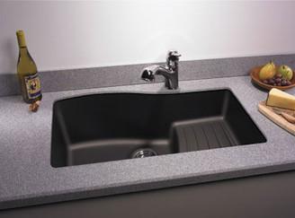 Kitchen Sinks - Granite Undermount. Swanstone QUAD-3322 Granite Undermount  Large Single Ascend Bowl