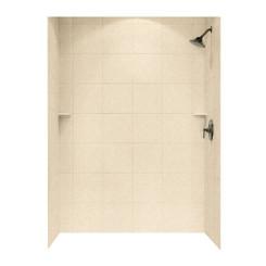 "SQMK72-3648 Shower Square Tile Wall Kit 36"" x 48"" x 72"" - Aggregate Color"