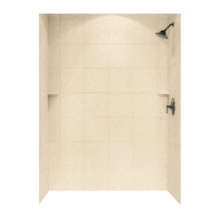 """SQMK96-3662 Shower Square Tile Wall Kit 36"""" x 62"""" x 96"""" - Solid Color"""