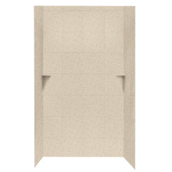 """SQMK96-4848 Shower Square Tile Wall Kit 48"""" x 48"""" x 96"""" - Solid Color"""
