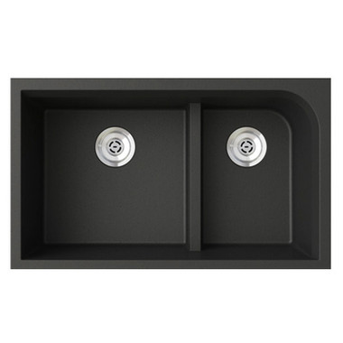 Swanstone quld 3322 undermount low divide double bowl for Swanstone undermount sinks