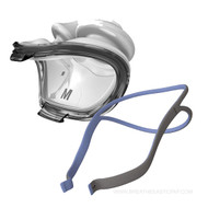"AirFit P10 CPAP Nasal Pillow Mask - without headgear (62922) + AirFit P10 Headgear - One size fits all (62935) Please see below  Product Features  Nasal pillow masks can be a great investment for sleep apnea patients who prefer less coverage but don't want to sacrifice a pleasant fit. The AirFit P10, manufactured by ResMed, is an excellent option, providing the soft sensation of plush nasal pillows along with a straightforward design and the newest updates in exhaust diffusion for a CPAP experience that is gentle, smooth, and dependable.  Features      Light and Open Quality     Deluxe Nasal Pillows     Sophisticated QuietAir Vents   Light and Open Quality  Fed up with wrangling bulky frames into place and dealing with cumbersome extra pieces of equipment? The intuitive design of the AirFit P10 makes therapy not only tolerable, but convenient as well. Once you feel the breeze on your face from the AirFit P10's open and clear quality, you'll never want to go back to other stuffy masks again. This mask seems to hover over your features, eliminating many of the agitations that other masks can cause. While some patients complain about too much pressure over the bridge of their noses, or unsightly dents and scratches that make them embarrassed to go about their days, the AirFit P10 promotes minimal contact. This mask rests lightly on your head without going light on the therapy airflow.  Deluxe Nasal Pillows  The AirFit P10 supplies patients with a deluxe nasal pillow that absorbs impact from your tossing and turning and affords your nose a truly luxurious experience. What good is a seal if it forces you to freeze in one awkward pose all night long? ResMed believes that effective therapy doesn't have to mean an immobile patient, which is why they've made the nasal pillow to be extra adaptable. The pillow's stems bend easily, shortening and lengthening as you turn to make sure therapy air reaches you at all times and in all sleep positions. To assist you in procuring the perfect fit, the pillows include a size indicator and clearly marked ""L"" and ""R"" sides. Small, medium, and large sizes of pillows are available.  Sophisticated QuietAir Vents  ResMed has revamped its conventional ventilation system to provide customers with an exhaust port that is unlike anything they've previously used. Prepare to be awed and amazed with the degree of silence the AirFit P10 attains, thanks to its new QuietAir vents. Never satisfied with ""good enough,"" ResMed pushes boundaries to invent a sophisticated exhalation system constructed from mesh. This netlike membrane increases mask diffusion power. Air is shuttled through the tiny holes, diluting the airstream for less noise and draft. The AirFit P10 is so quiet, you may forget you're even wearing a mask.  This Product Includes…       Mask       3 - Pairs Nasal Pillows (S, M, L)    Resmed AirFit P10 Headgear (62935)  The ResMed P10 headgear features a split-strap design that reduces contact with the face for maximum comfort during use. The QuickFit headgear fits on the patient without requiring any further adjustment features. Spreading the back straps creates a looser fit, while putting them closer together makes for a tighter fit. The headgear features nylon straps that make installing the nasal pillows quick and easy. Comes in blue or pink."