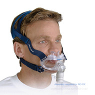 ResMed Mirage Liberty Full Face Mask Frame System; The mask incorporates vent holes and a built-in valve so that you can continue to breathe fresh air if the airflow to your mask is impeded for any reason.