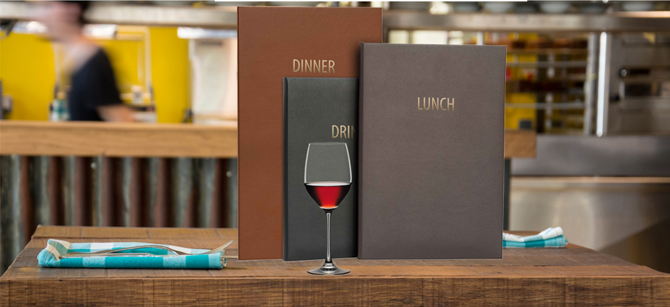 Faux Leather Menu Covers