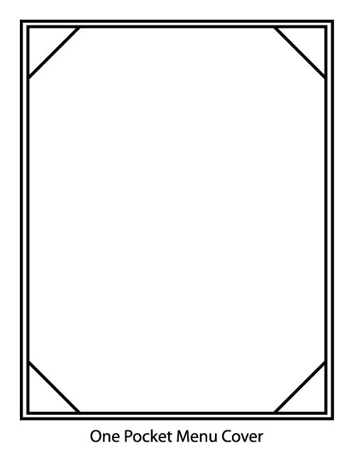 One Pocket Menu Cover