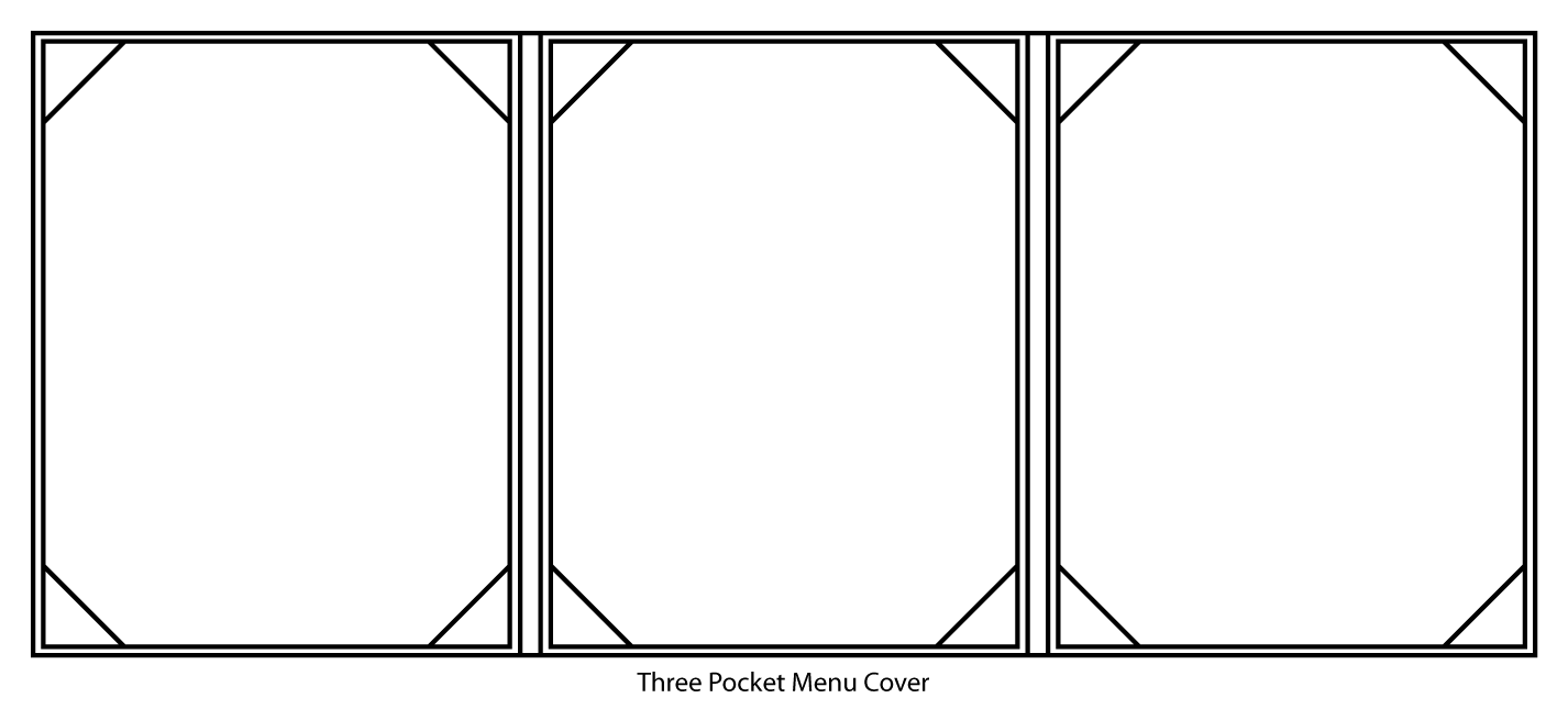 Three Pocket Menu Cover