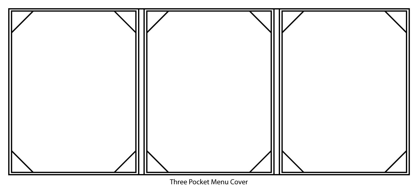 Three Pocket Menu Cover