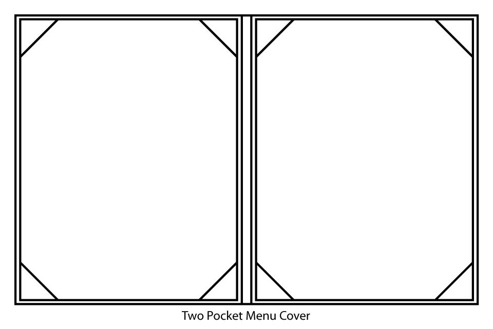 Two Pocket Menu Cover