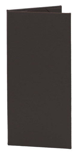 """4.25"""" x 11"""" Insert, 2-Panel Menu Cover Dark Brown"""