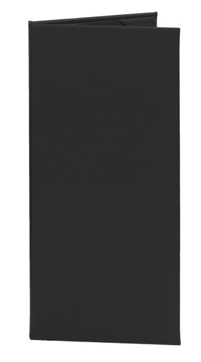 "4.25"" x 11"" Insert, 2-Panel Menu Cover Black"