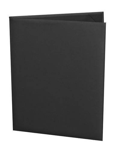 "8 1/2"" x 11"" Insert, 2-Panel Menu Cover Black"