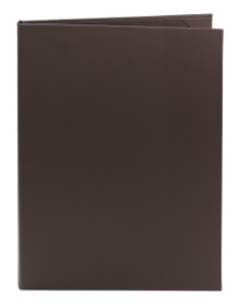 "8.5"" x 14"" Insert, 2-Panel Menu Cover Dark Brown (Chocolate)"