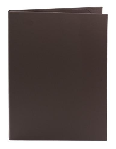 "8.5"" x 14"" Insert, 2-Panel Menu Cover Dark Brown (Chocolate)"