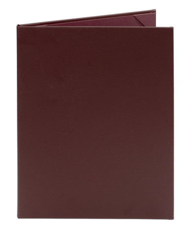 "8 1/2"" x 11"" Insert, 2-Panel Menu Cover Burgundy or Maroon"