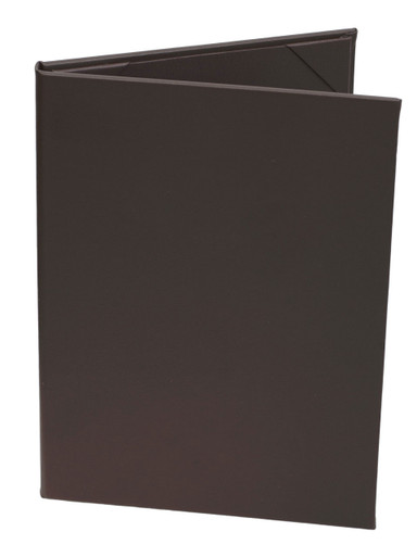 "8 1/2"" x 11"" Insert, 2-Panel Menu Cover Dark Brown (Chocolate)"