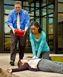 Lay people using an AED
