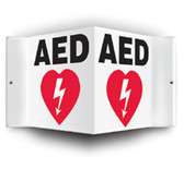 AED Wall Sign - 3 D Angled