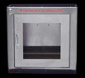Stainless Steel AED wall cabinet with alarm
