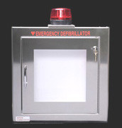 Large Stainless Steel Wall Cabinet with Alarm and Strobe