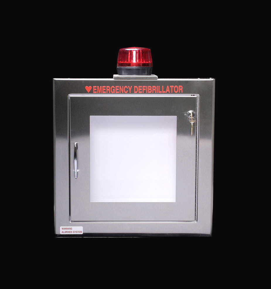 Stainless Steel Aed Wall Cabinet With Alarm Amp Strobe