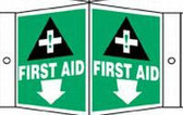 First Aid Sign - 3 D Angled