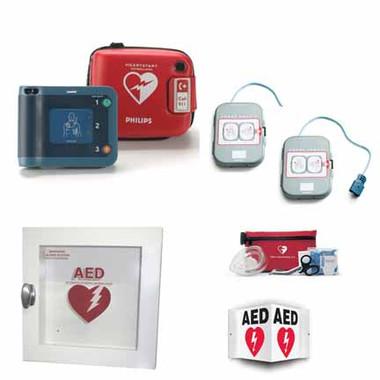 Philips HeartStart FRx AED Outdoor Package - Galvanized Cabinet