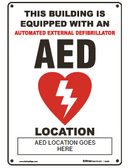 Customized AED location sign.