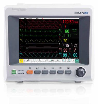 Edan iM50 Patient Transport Monitor with ECG, SpO2, NIBP, 2 Temp, PR, Resp, and Optional EtCO2