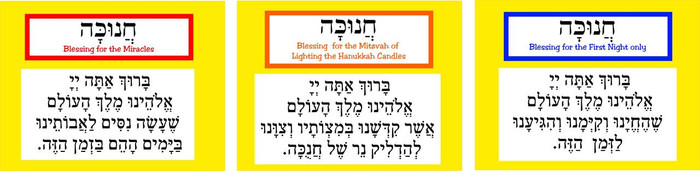 Hanukkah Brachot Sequencing
