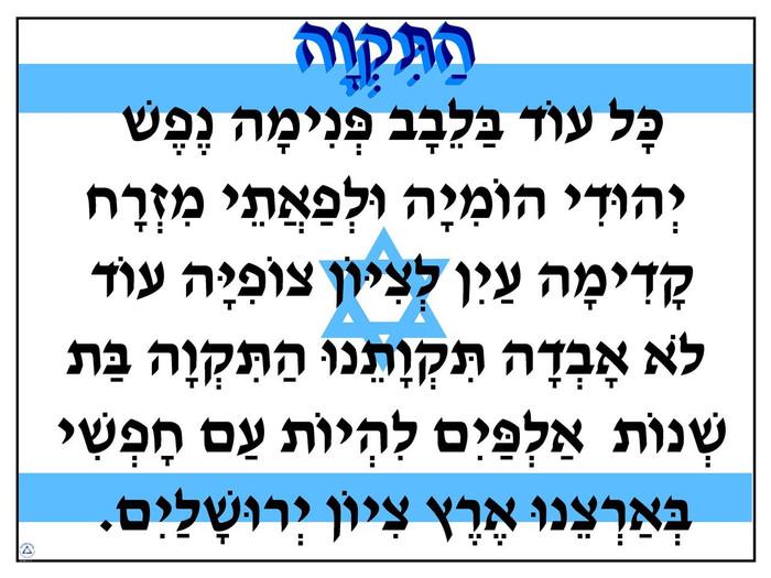 Hatikvah Flag Poster