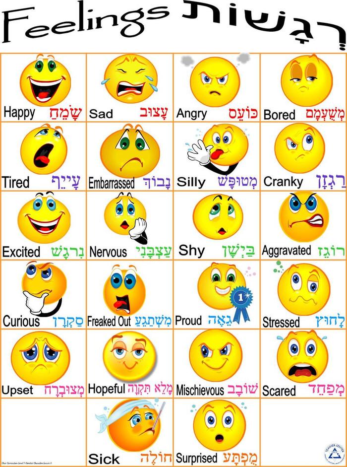 Feelings Chart Poster