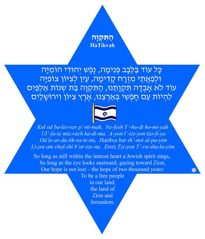 Hatikvah Star Poster