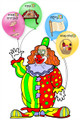 Purim - 4 Mitzvot Clown  (P-11)