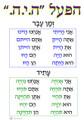 Hebrew - HaPoal Hayah Grammar Poster (PG-4)