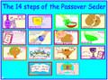 Pesach - 14 Seder Steps poster (P-1)