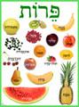 Hebrew - Fruits Poster (PF-1)