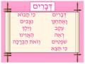 Bible - Devarim Poster (P-5)