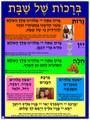 Shabbat - Brachot Poster (G-6)