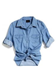 [Sample] Levi's, blue denim womens shirt