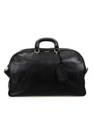 [Sample] Sodling, black leather duffle bag