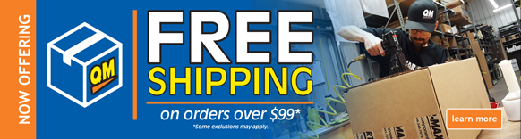 Free shipping on orders over $99 at Quarter-Max!
