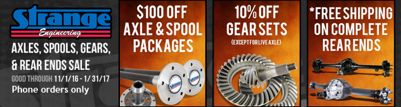 Strange Axles, Spools, Gears, and Rear Ends Sale