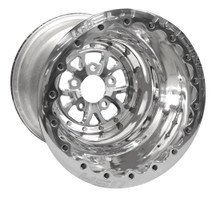 "Weld Racing V-Series Lite DBL, 16"" x 16"", 5 x 4.75"", 4"" BS, Polished Shell/Center/Ring"