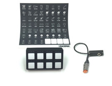 Racepak SmartWire Keypad Kit includes Keypad, decal sheet, & connecting cable
