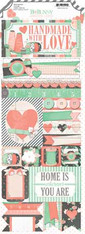 Bo Bunny - Pincushion 4.5'X12' Cardstock Sticker Sheet